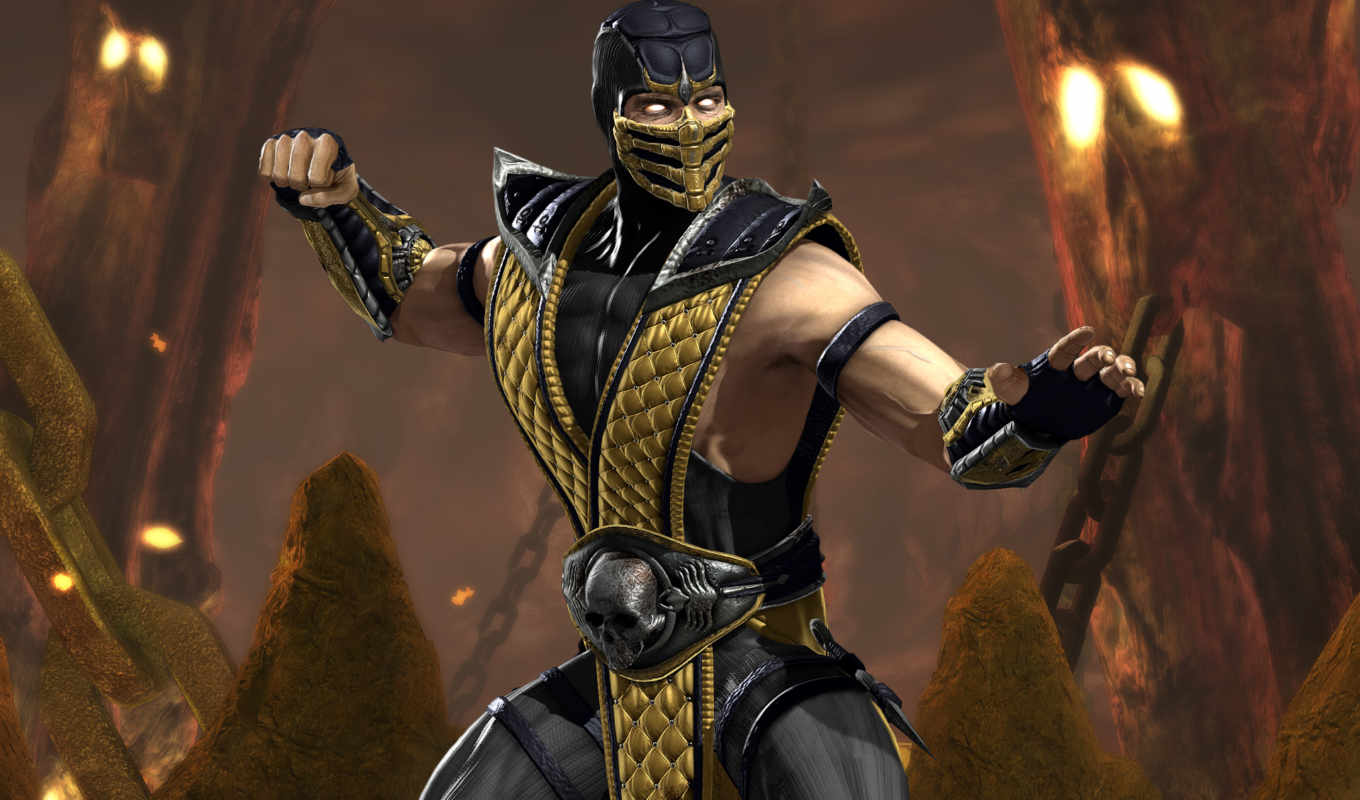 kombat, mortal, scorpion, universe, desktop, download, parede, papel,
