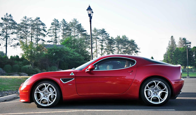 alfa, romeo, cars, красивые, car, красная машина, суперкар,