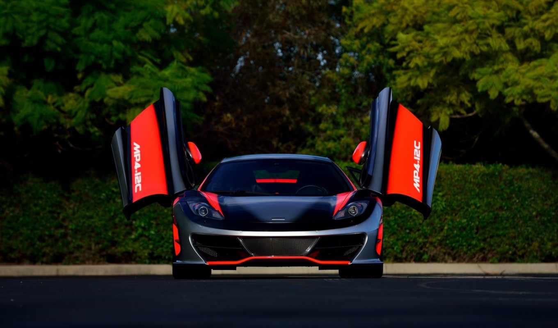 McLaren MP4-12C красный спортивный автомобиль скачать