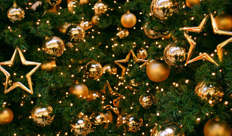 год, new, дерево, игрушки, шарики, праздник,