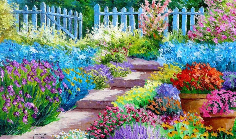 мар, цветы, janiaczyk, живопись, жан, marc, art, живописи, саду,