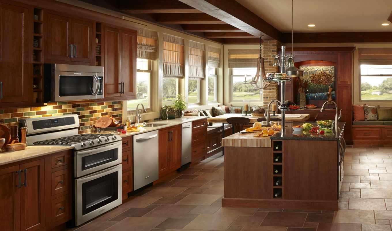kitchen, стиль, интерьер, дерево, бытовая, техника,