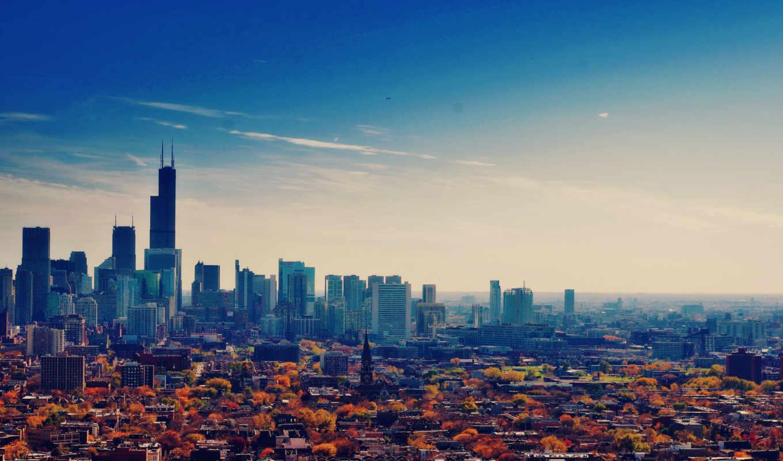 chicago, usa, небоскребы, иллинойс, здания,
