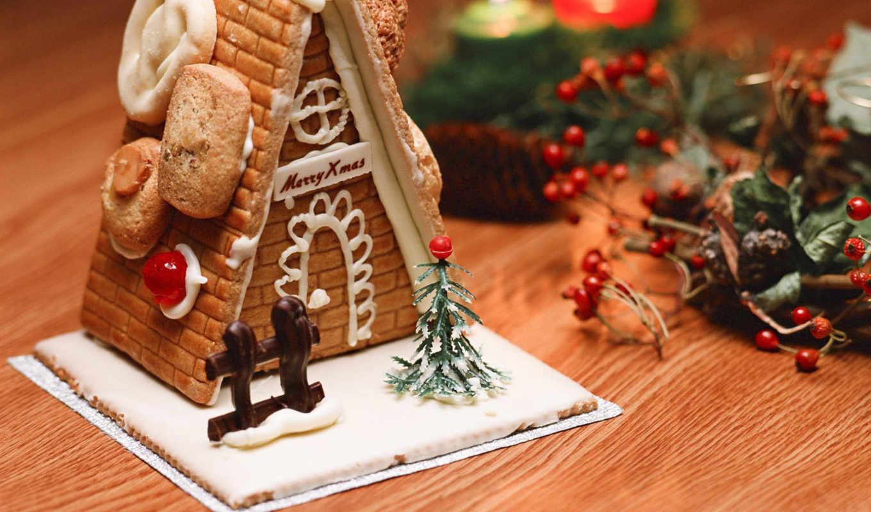 год, домик, новый, рождество, свечи, сладости, merry, xmas, candie, with, karácsony, die,