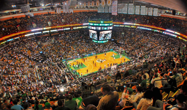 баскетбол, люди, boston, celtics, garden,