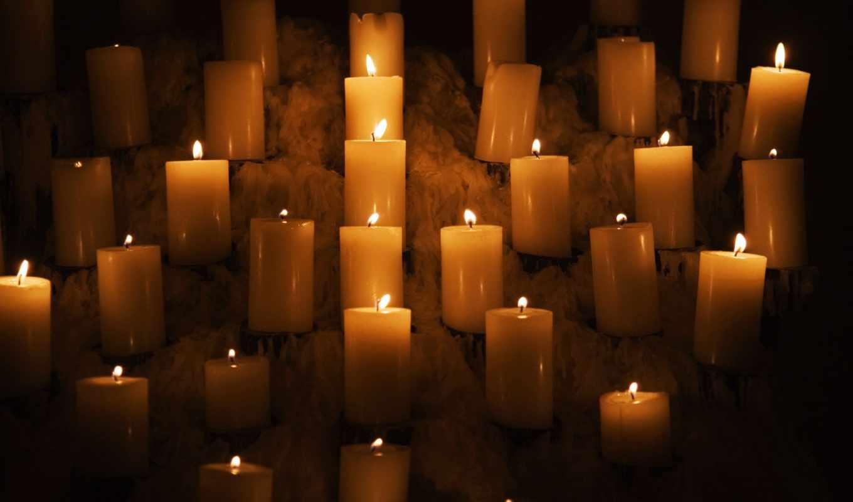 свеча, candles, свет, desktop, ночь,
