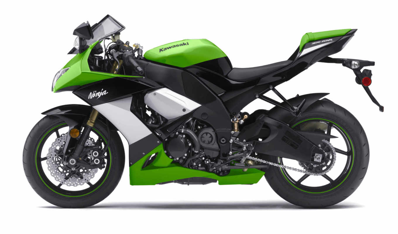kawasaki, мотоцикл, ninja, мотоциклы, зелёный, мотоцикла, спорт,