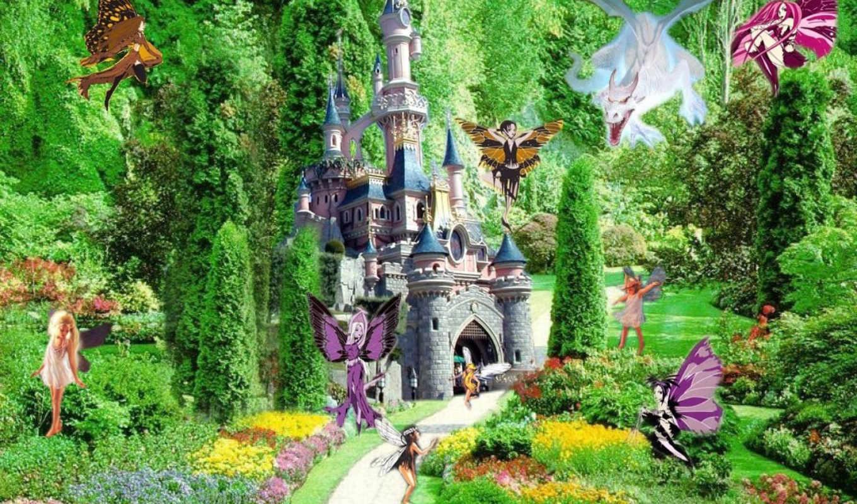 garden, цветение, детские, фоны,