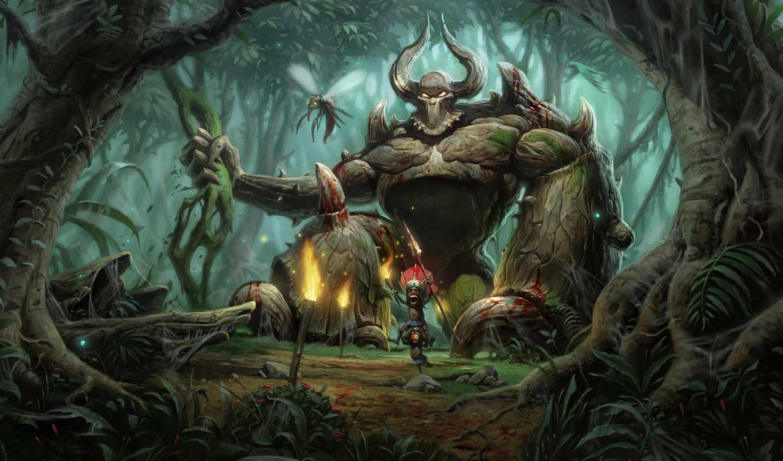 diablo, art, jungle, games, развернуть,