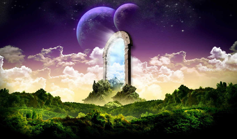 portal, abstract, universe, resimleri, art, planets, manzara,