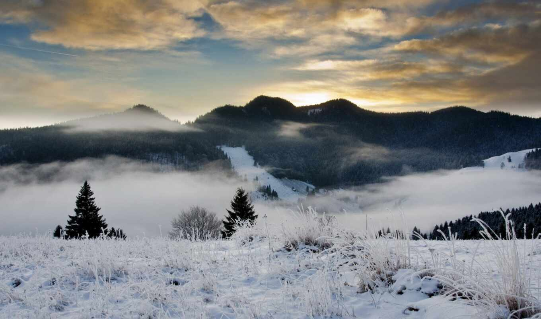iarna, небо, winter