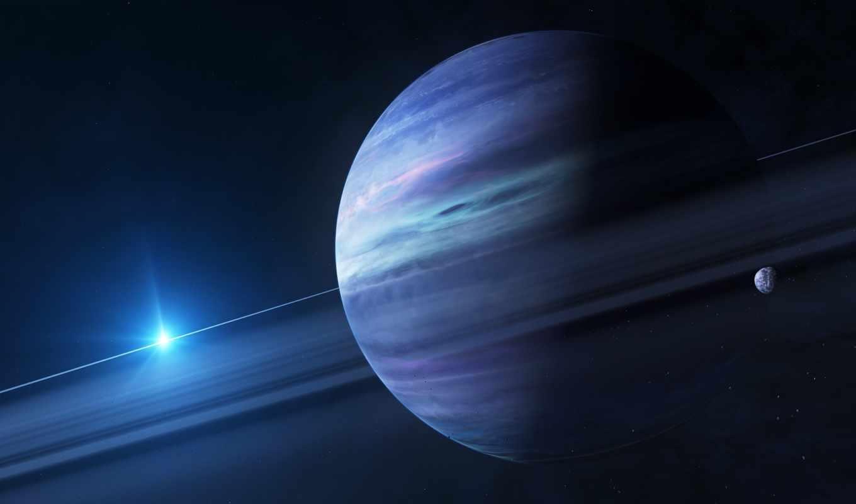 космос, космическим, уклоном, монитора, красота, космоса, планета, гигант, звезды, арт,