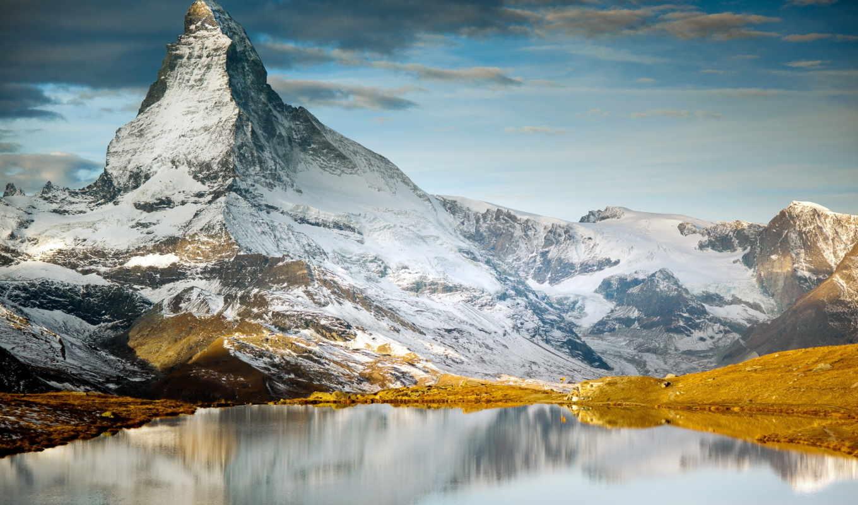 горы, landscape, озеро,