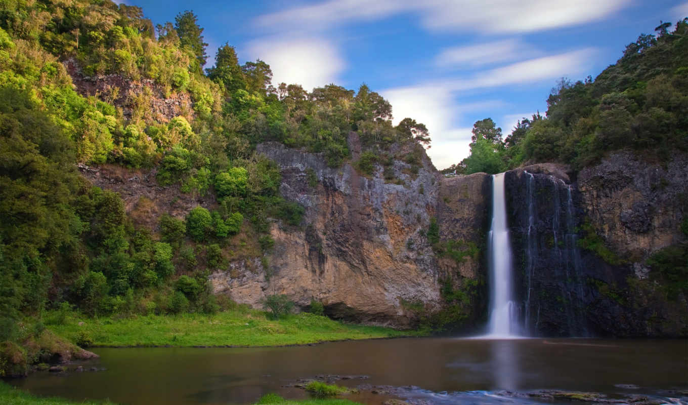 hunua, falls, fondos, zealand, free, full, new,