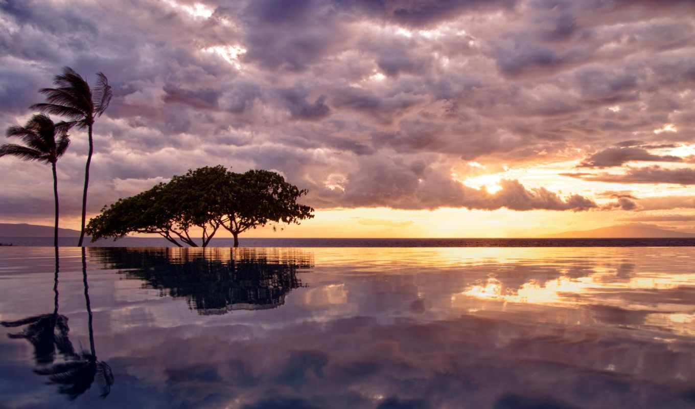взгляд, widescreen, ocean, бассейн, природа, high, бесконечность,