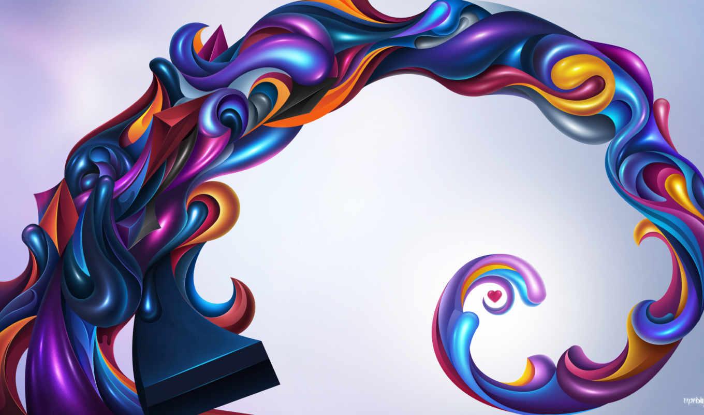free, desktop, abstract, spiral, high, goldeneye,