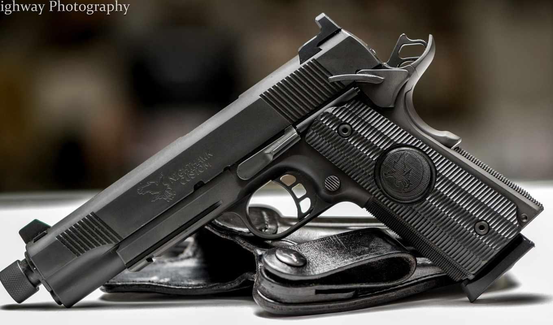 guns, pistol, Nighthawk, кобура