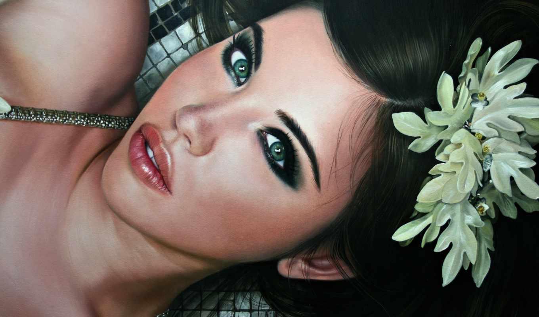 christiane, vleugels, девушка, живопись, art, лицо, взгляд,