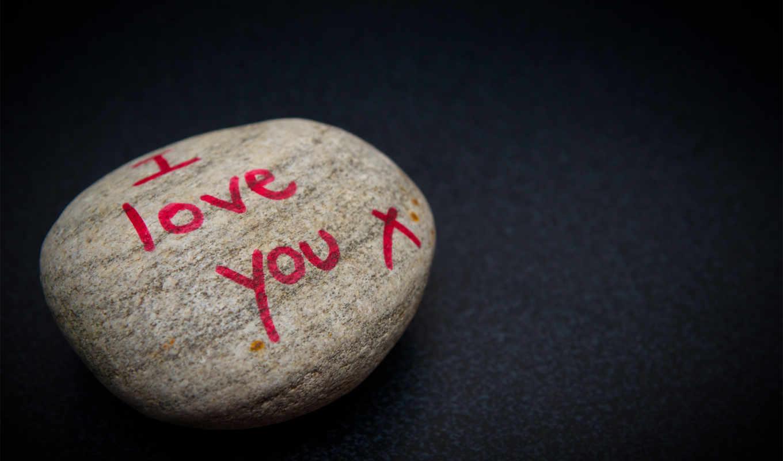 love, надпись, признание, камень, красный