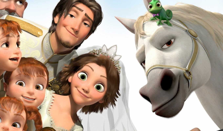 tangled, rapunzel, свадебный, флинн, после, ever, crown, maximus, невеста, паскаль,