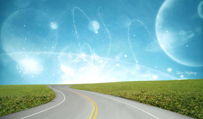 fondo, carretera, fantasia, pantalla, escritorio, fondos, paisaje, para,