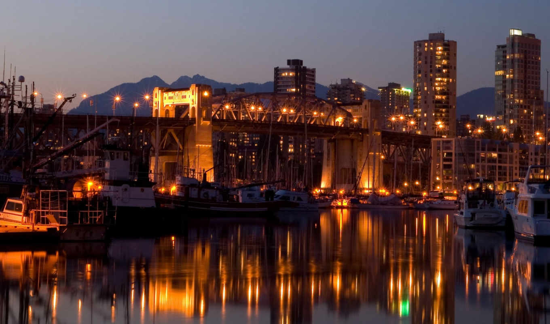 burrard, bridge, vancouver, canada, bakcground,
