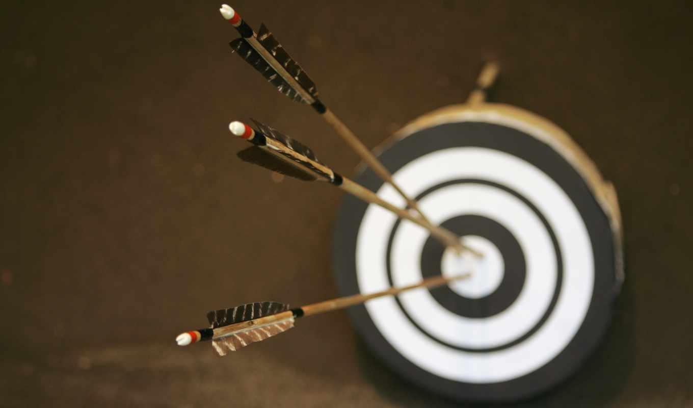 мишени, стрелы, размытость, apple, центр, три, боке,