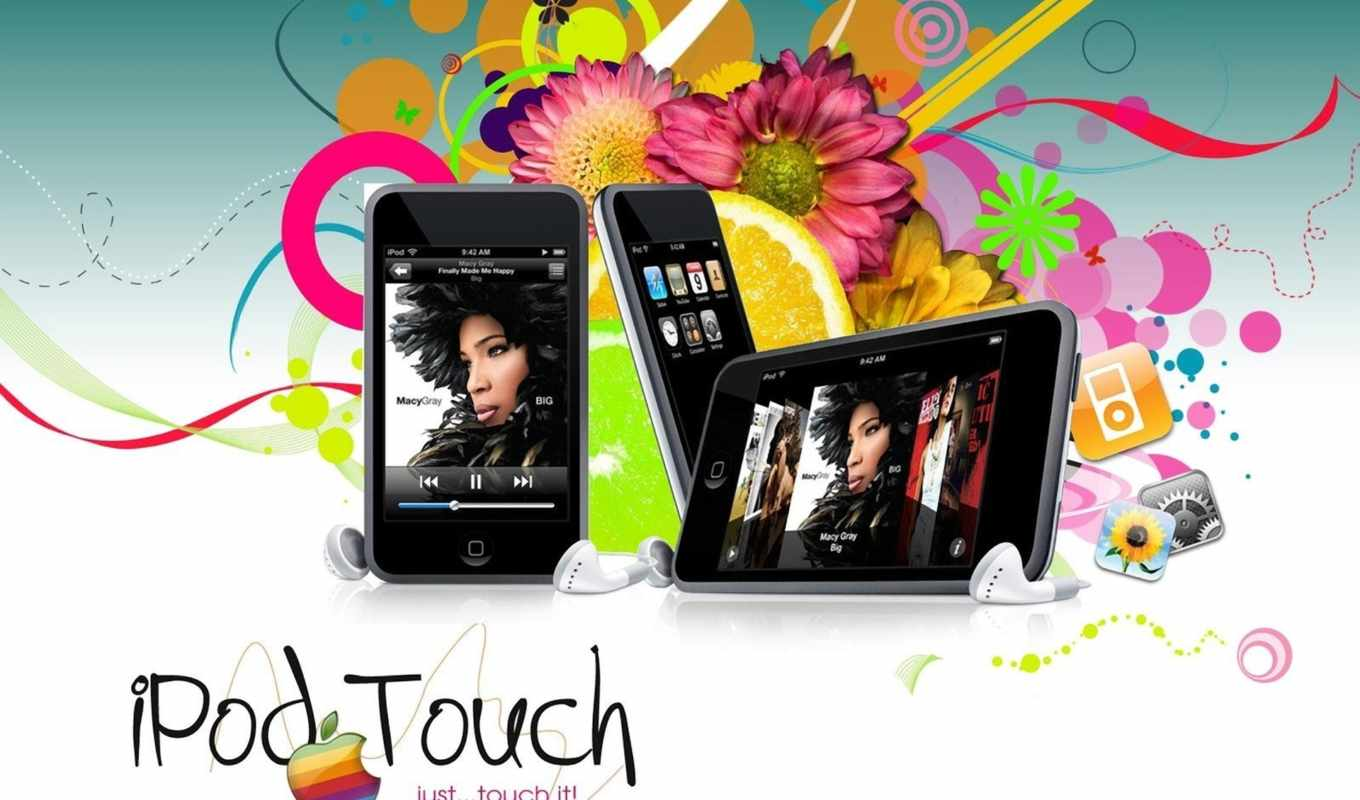 apple, ipod, touch, tech, mobile, наушники, kartinka,