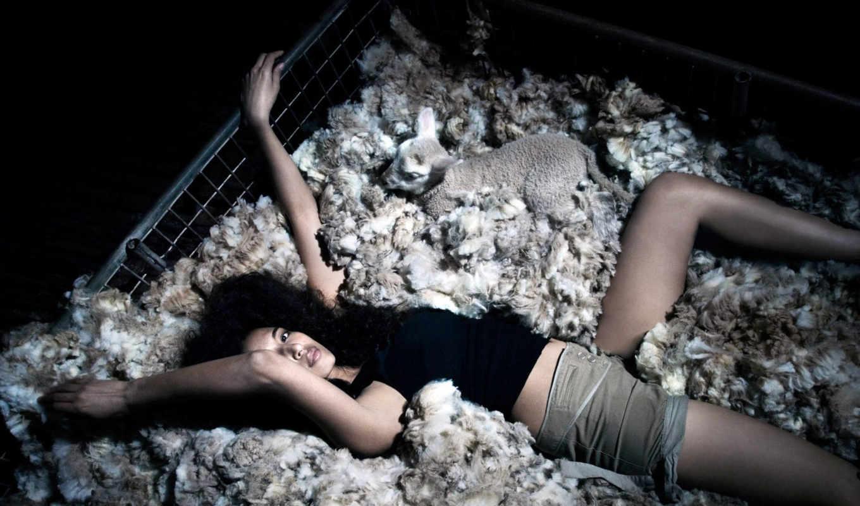 santos, kennedy, sean, lamb, girl, für, девушки, картинку, брюнетка, девушек, ягненком, креативные, photoworks,