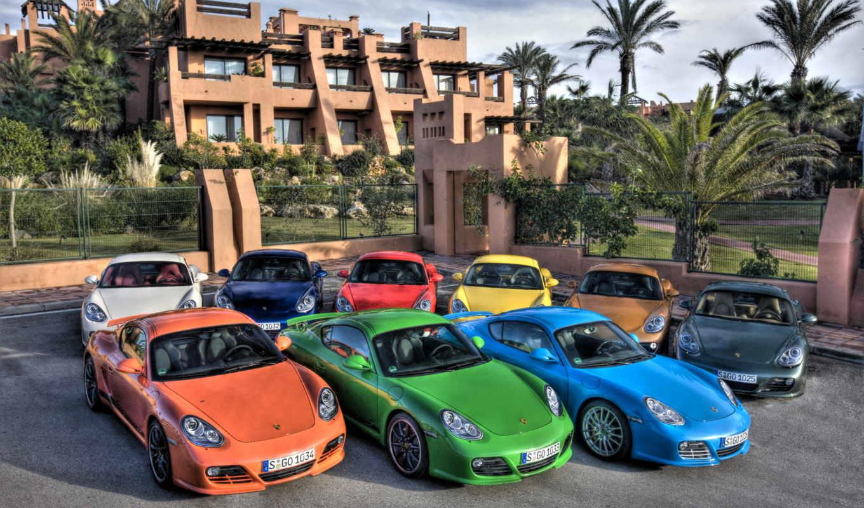 porsche, коллекция, машины, villa, парковка,