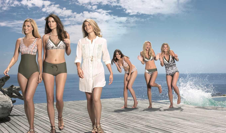 радость, девушки, небо, девушка, брызги, купальник, water, смех, море,