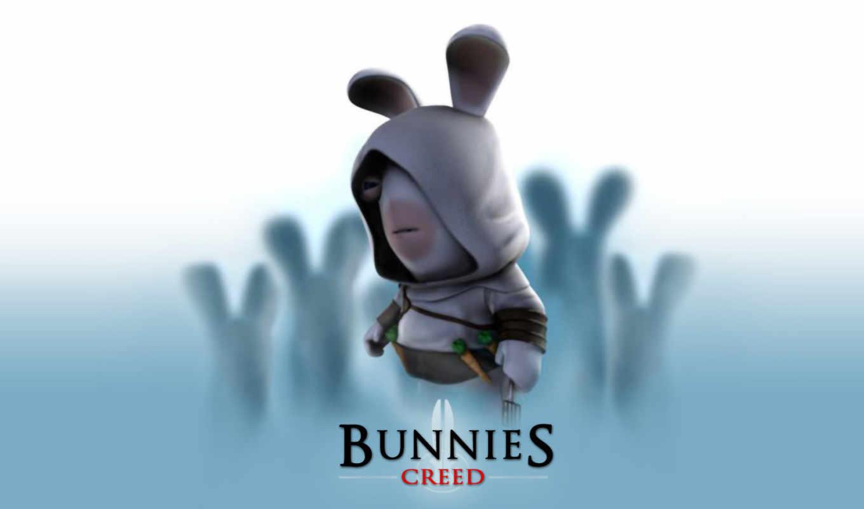 creed, bunnies, assassin, rayman, игры, rabbits,