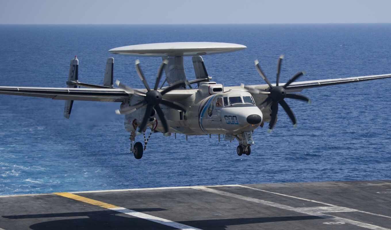 вмф, hawkeye, авианосец, awac, рлс, самолёт, airborne, grumman, land, system
