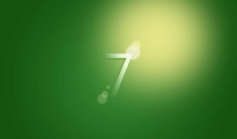 windows, 7, wallpaper, green