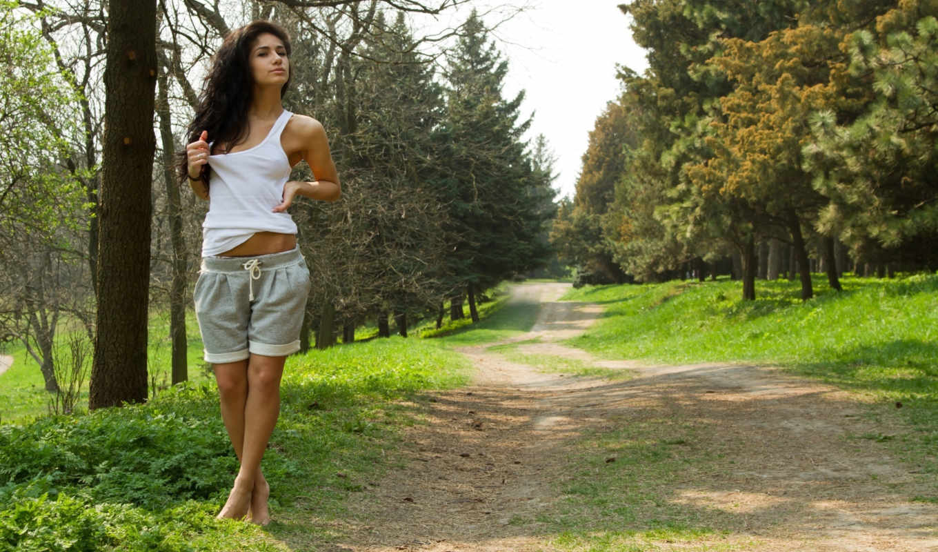 trees, малина, women, trail, paths, природа, suitable,