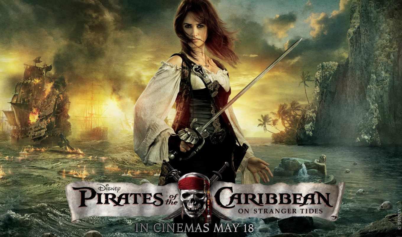 пираты, моря, карибского, penelope, берегах, странных, cruz,