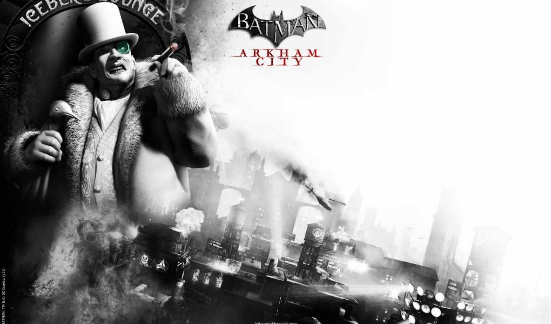 игры, arkham, city, batman,