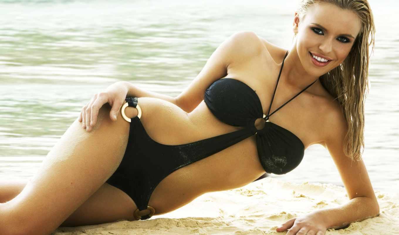 девушки, пляж, mcmichael, девушек, песок, пляже,