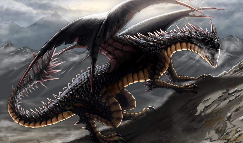 дракон, black, shafiqur, images, deviantart, dragons, more,
