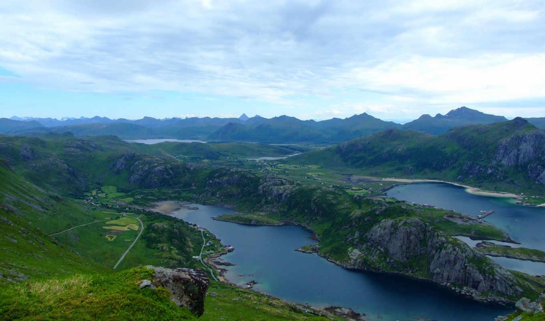 норвегия, lofoten, northern, islands,