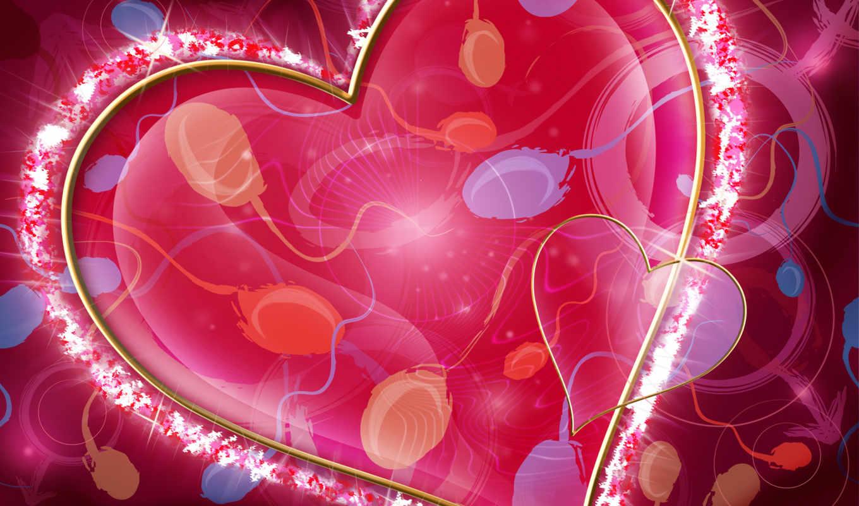 love, день, сердце, валентина, любви, страница, экрана, святого, красивые,