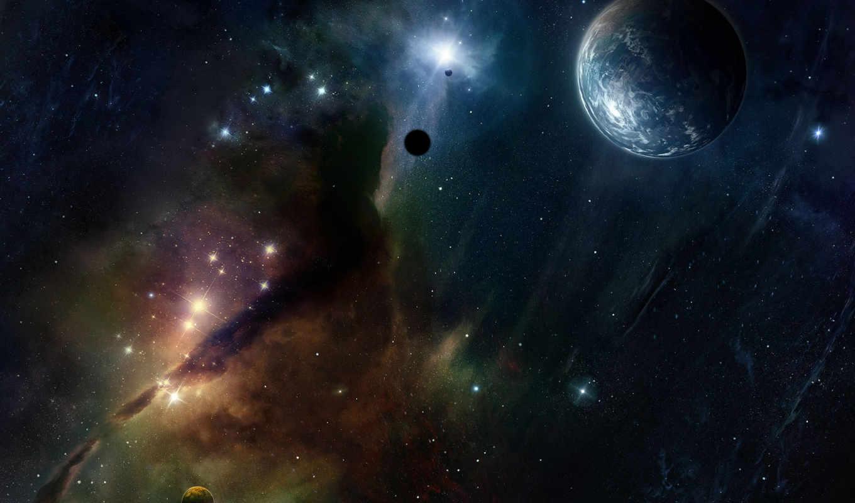 звезды, туманность, космос, планеты, картинка, кнопкой, планета, сияние, картинку, planets, вселенная, мыши,