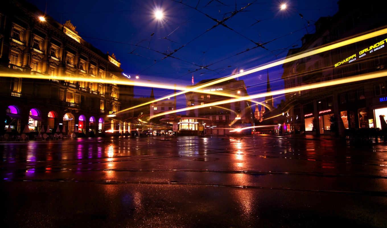 улица, дома, город, ночь, огни, марта, дорога, машины, города, cities,