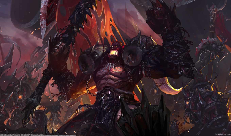 warcraft, world, wow, игры, воители, доспех, монстры,