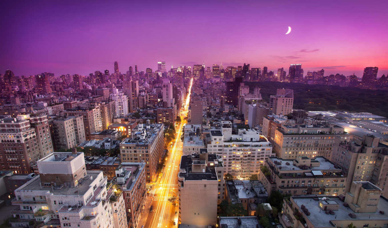 new, york, закат, usa, нью, nyc, side, восток,