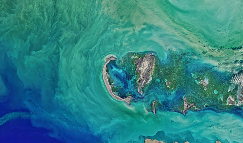 море, acer, caspian, nasa, лед, north, изображение, scours, aspire, спутник,