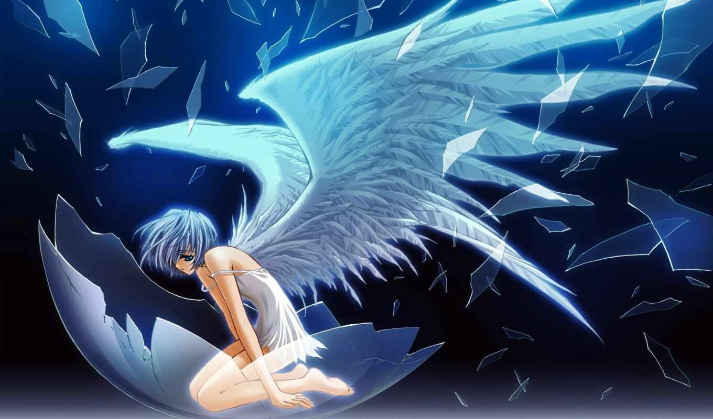 anime, angel, девушка, крыльями, крылья, art, красивые, ангела, ангелов, fallen,