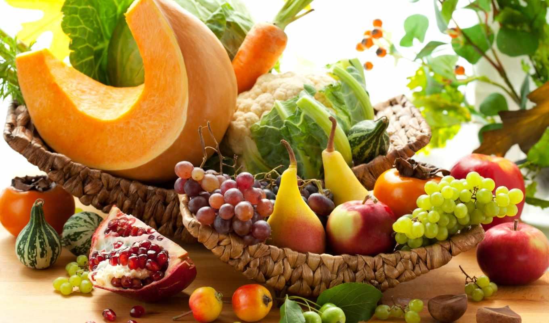 овощи, морковь, капуста, тыква, гранат, хурма, виноград, картинка, фрукты,