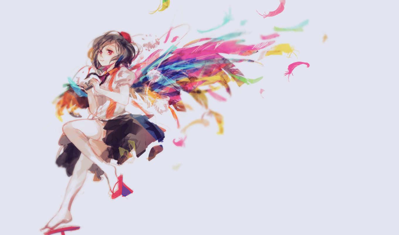 shameimaru, aya, hair, аниме, hat, camera, wings, touhou, изображение, picsfab, картинок, фабрика, similar, geta, thighhighs, feathers,