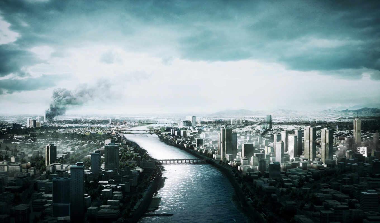 war, battlefield, город, совершенно, категория, house, дым, игры,
